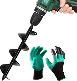 BLIKA Solid Shaft Auger Drill Bit for Planting, 3