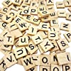 Sunnyglade 500PCS Wood Letter Tiles/Wooden Scrabble Tiles A-Z Capital Letters for Crafts, Pendants, Spelling