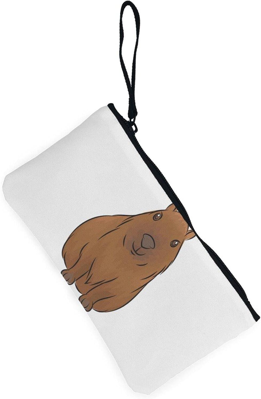 AORRUAM Capybara Canvas Coin Purse,Canvas Zipper Pencil Cases,Canvas Change Purse Pouch Mini Wallet Coin Bag