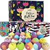 Bath-Bombs-Gift-Set-24-Aromatherapy-BathBombs-Made-w-Organic-Essential-Oils-Spa-Fizzies-wMoisturizing-Shea-Butter-and-Bath-Salts-for-Relaxation-and-Stress-Relief-Mothers-Day-Gift-for-Women