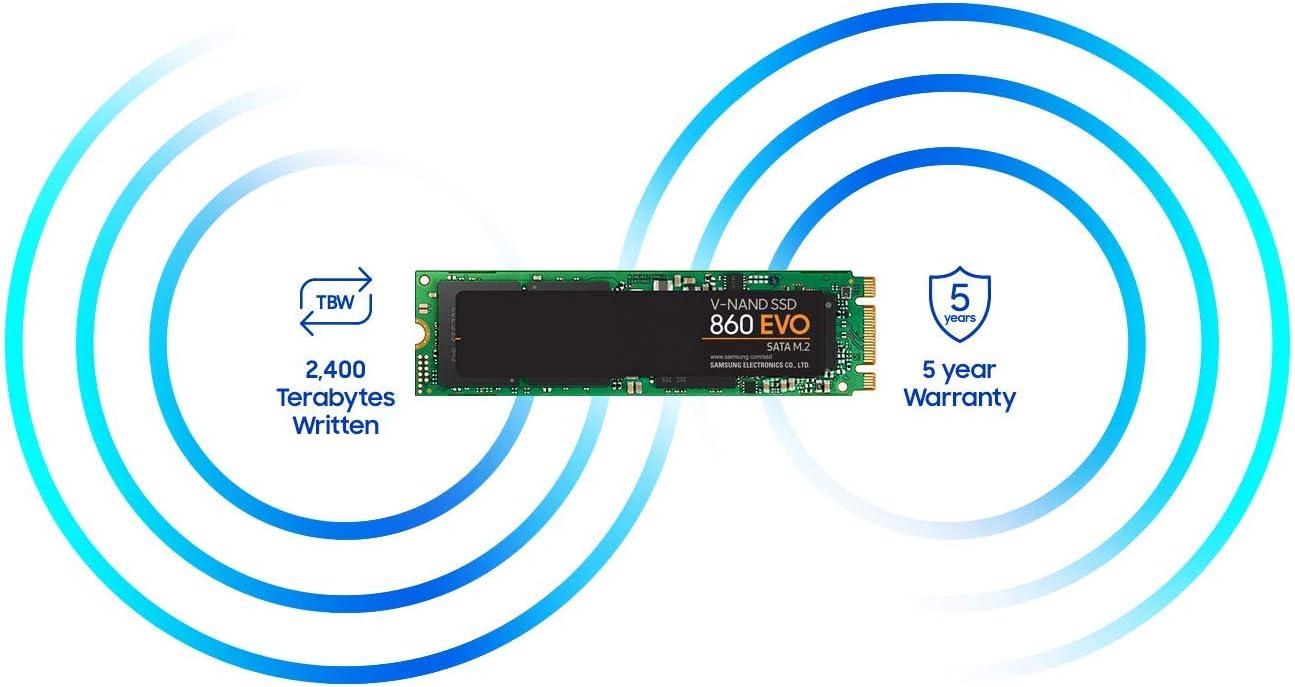 Samsung SSD 860 EVO 1TB M.2 SATA Internal SSD (MZ-N6E1T0BW)