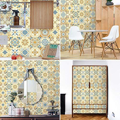 Azulejos Adhesivos Baño Cocina Amarillo Claro 10 Vinilos Cocina Azulejos Vinilos Para Baños Losetas Vinilo para Paredes Suelo Vinilo Autoadhesivo para Cocina