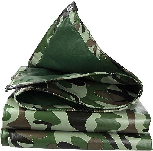 LSXIAO Bache De Prougeection Crème Solaire Coupe-vent Couverture De Camion Camouflage Toile Oeillet En Alliage D'aluminium Tente De Camping En Plein Air, 13 Tailles (Couleur   vert, Taille   4.8x5.8M)