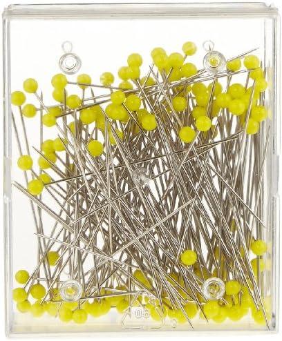 Stahl Nadeln Stecknadeln gro/ß Glaskopf Yline 20 g Glaskopfstecknadeln 0,8 x 48 mm 3144 bunt // 6-Farben