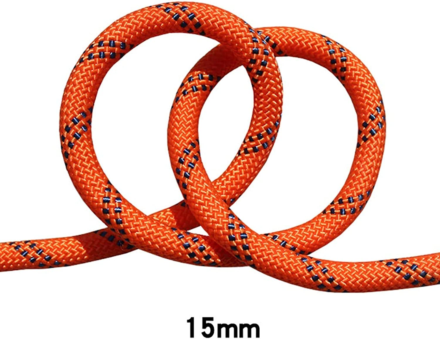 QARYYQ Climbing Rope Rappelling Rope Aerial Working Rope Diameter 15mm orange Black Ropes (Size   40m)