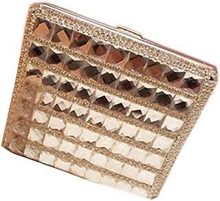 Delicate Rhinestone Cigarette Case Cigar Case Cigarette Holder for Ladies, F