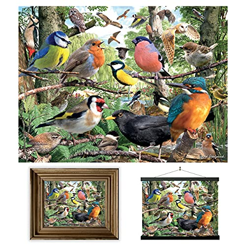 3D LiveLife Lenticular Cuadros Decoración - Naturaleza de Deluxebase. Poster 3D sin marco de pájaros. Obra de arte original con licencia del reconocido artista, David Penfound