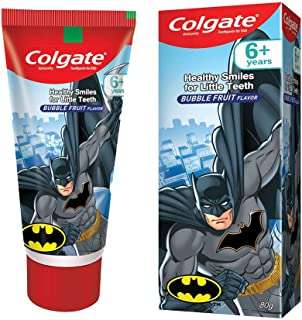 Colgate Kids Toothpaste, Gentle Protection for 6+ Years, Bubble Fruit Flavour, 80g