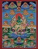 Thangka Tara grün Druck Kunstdruck Reproduktion 40x50 cm