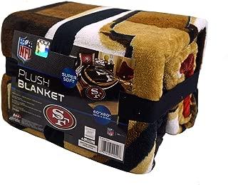 The Northwest Company San Francisco 49ers NFL 60x80 inch Super Soft Plush Blanket Throw