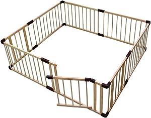 LHR888 Baby Playpen-Children Safety Fence Wood  Kids Baby Indoor Outdoor Safety Game Playpen Fence Size 110 190cm