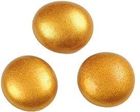 efco–Pepitas de Cristal 18–20mm, Oro, Pack de 20