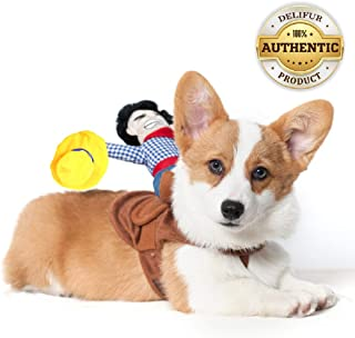 Delifur Pet Costume Dog Costume Pet Suit Cowboy Rider Style Dog Carrying Costume