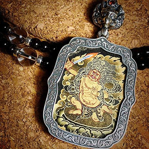 QWX Buda Colgante Adorno Talismán para Mujer Colgante Thangka Joyas Artículos Preciosos Un Amuleto simbólico Adecuado para budistas, Fudo Ming King