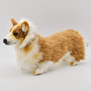 "Hansa Welsh Corgi Plush Dog 13.7"" Long X 9"" High"