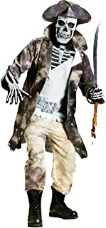Men's Ghost Pirate Skeleton Costume