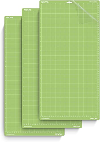 Nicapa Standard Grip Cutting Mat for Cricut Explore One/Air/Air 2/Maker (12x24 inch,3pack) Adhesive&Sticky Non-Slip F...