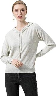 SUNJIN ARCO Women's Thin Long Sleeve Pullover Hoodie Sweatshirts Tops Knit Sweater
