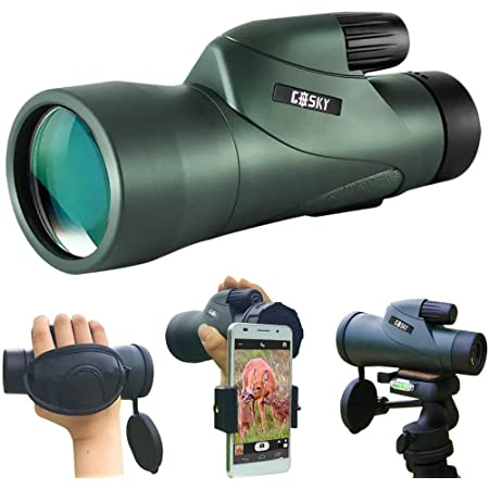 Gosky 12x55 High Definition Monocular Telescope and Quick Phone Holder-2020 Waterproof Monocular -BAK4 Prism for Wildlife Bird Watching Hunting Camping Travel Secenery