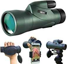 Gosky 12x55 High Definition Monocular Telescope and Quick Phone Holder-2020 Waterproof Monocular -BAK4 Prism for Wildlife ...