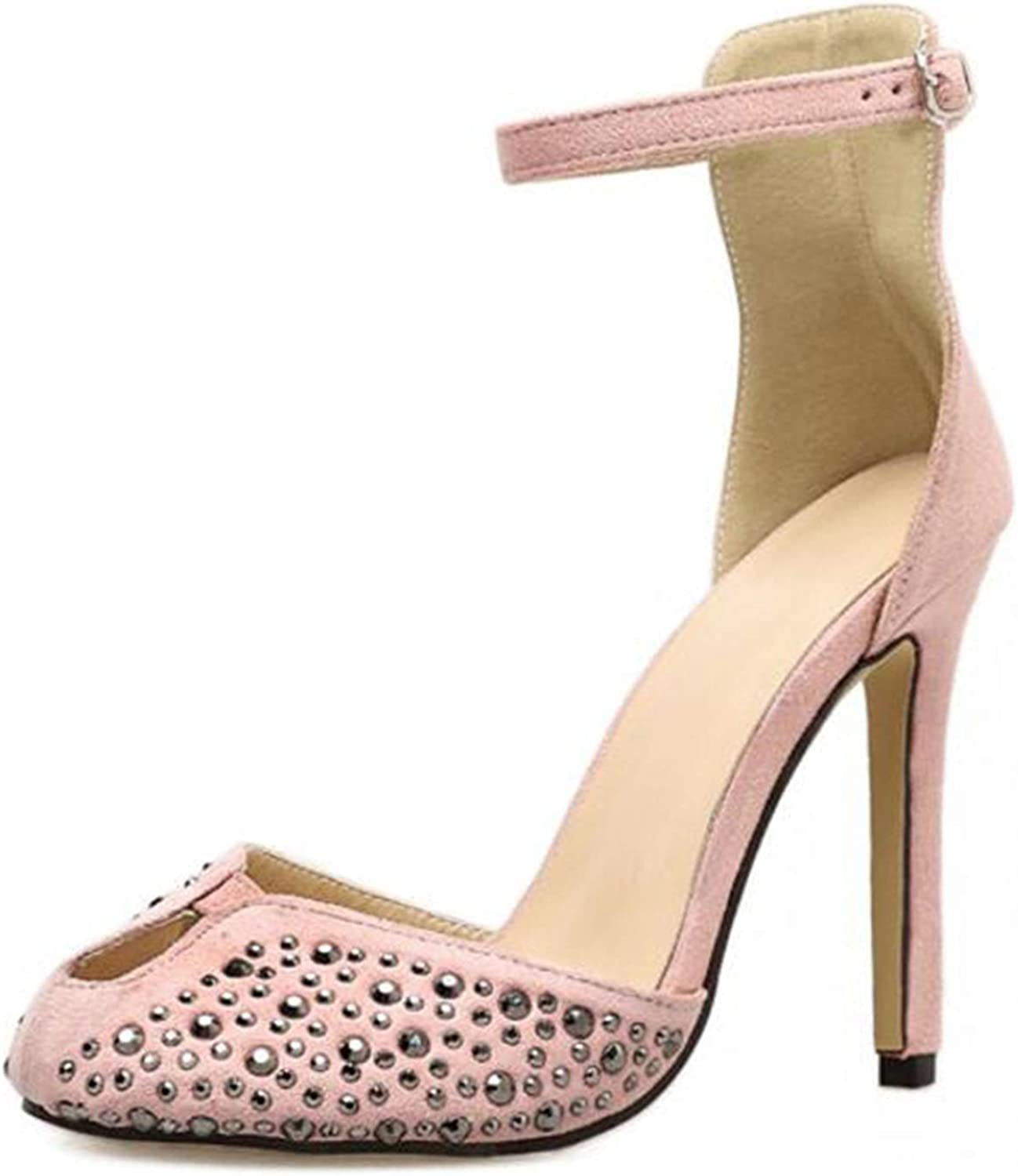 pink flowers 2018 Summer Sexy Fashion Women High Heels shoes Pumps Crystal Ankle Strap Open Toe Party shoes