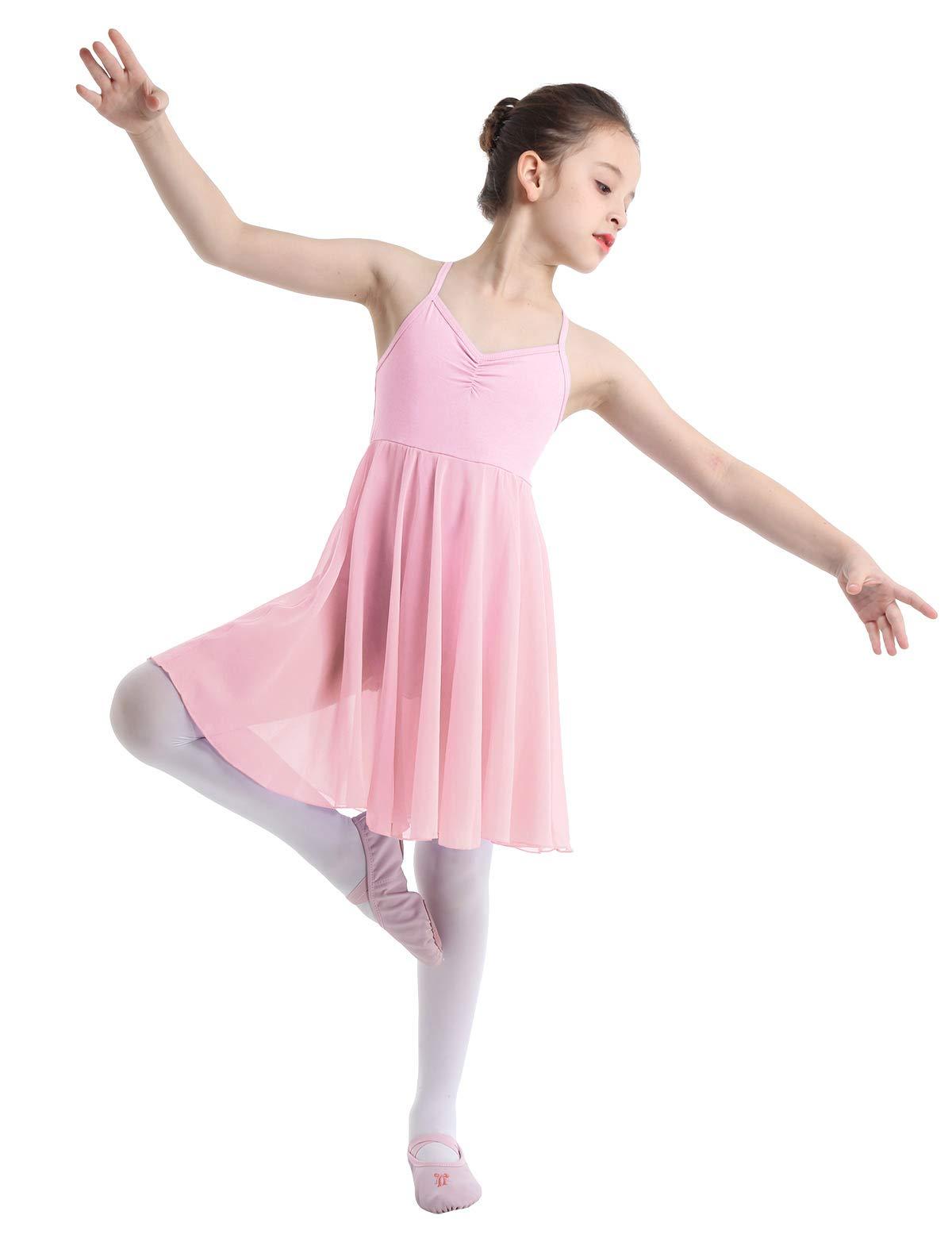 UK Girls Lyrical Ballet Dance Dress Modern Ballroom Leotards Dancewear Costume
