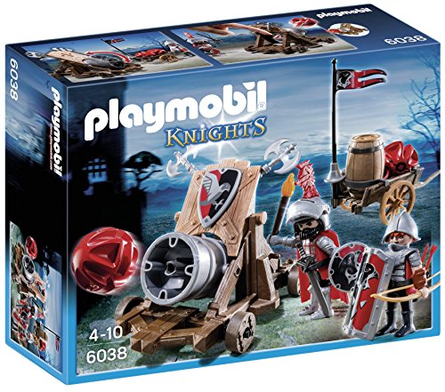 Playmobil - 6038 - Jeu de Construction - Chevalier Aigle + Canon...
