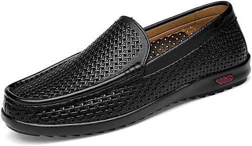 Hhor Chaussures Mocassins pour Hommes, Penny Loafers pour Hommes Classiques Botte à Enfiler décontractée Mocassins (Semelle en Caoutchouc) (Couleur  Brun Crocodile, Taille  43 EU)