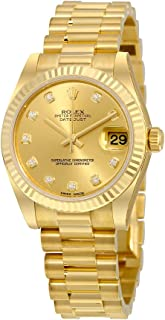 Rolex Lady-Datejust 31 Champagne Dial 18K Yellow Gold President Automatic Ladies Watch 178278CDP