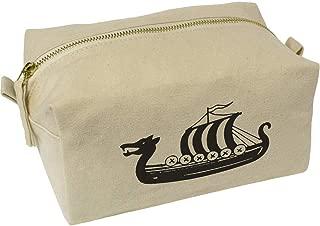 'Viking Ship' Canvas Wash Bag / Makeup Case (CS00018427)
