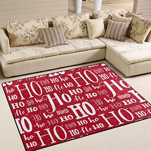 JSTEL INGBAGS Super weicher, moderner Weihnachts-Teppich 160 x 120 cm Wohnzimmer-Teppich Schlafzimmer für Kinder Spielen solide Heimdekorator Teppich und Teppiche 63 x 122 cm, Multi, 63 x 48 Inch