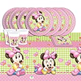 Disney Baby Shower Pink Minnie Mouse Complete Party Supplies Kit For 16 by Party Showroom