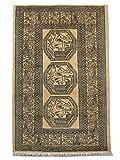 Alfombra tradicional persa hecha a mano Gilgit, lana, rubio, pequeña, 130 x 205 cm, 4 pies 3 pulgadas x 6 pies 9 pulgadas (pies)