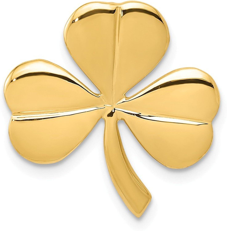 Beautiful Yellow gold 14K Yellowgold 14k Shamrock Chain Slide