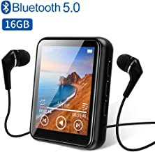 $32 » MP3 Player Bluetooth 5.0 Touch Screen Music Player 16GB Portable mp3 Player with Speakers high Fidelity Lossless Sound Quality mp3 FM Radio Recording e-Book 1.8 inch Screen MP3 Player Support (128GB)