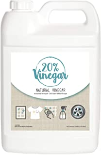 20% White Vinegar - 200 Grain Vinegar Concentrate - 1 Gallon of Natural and Safe Multi-Use Concentrated Industrial Vinegar