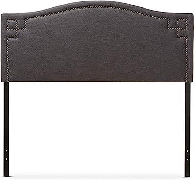 Baxton Studio Aubrey Modern and Contemporary Fabric Upholstered Headboard Grey/Twin