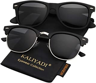 KALIYADI Polarized Sunglasses for Men and Women Semi-Rimless Frame Driving Sun glasses 100% UV Blocking