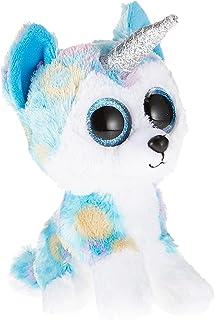Ty Beanie - Boo's-Helena The Husky Soft Toy 15 cm, 36322, White/Blue, TY36322