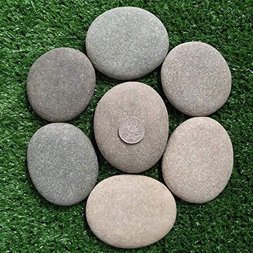 Piedras grandes planas/piedras para pintar y jardín, piedras decorativas de mármol natural, piedras decorativas para decoración de jardín, piedras naturales para acuario, piedras de jardín, 5-7 cm