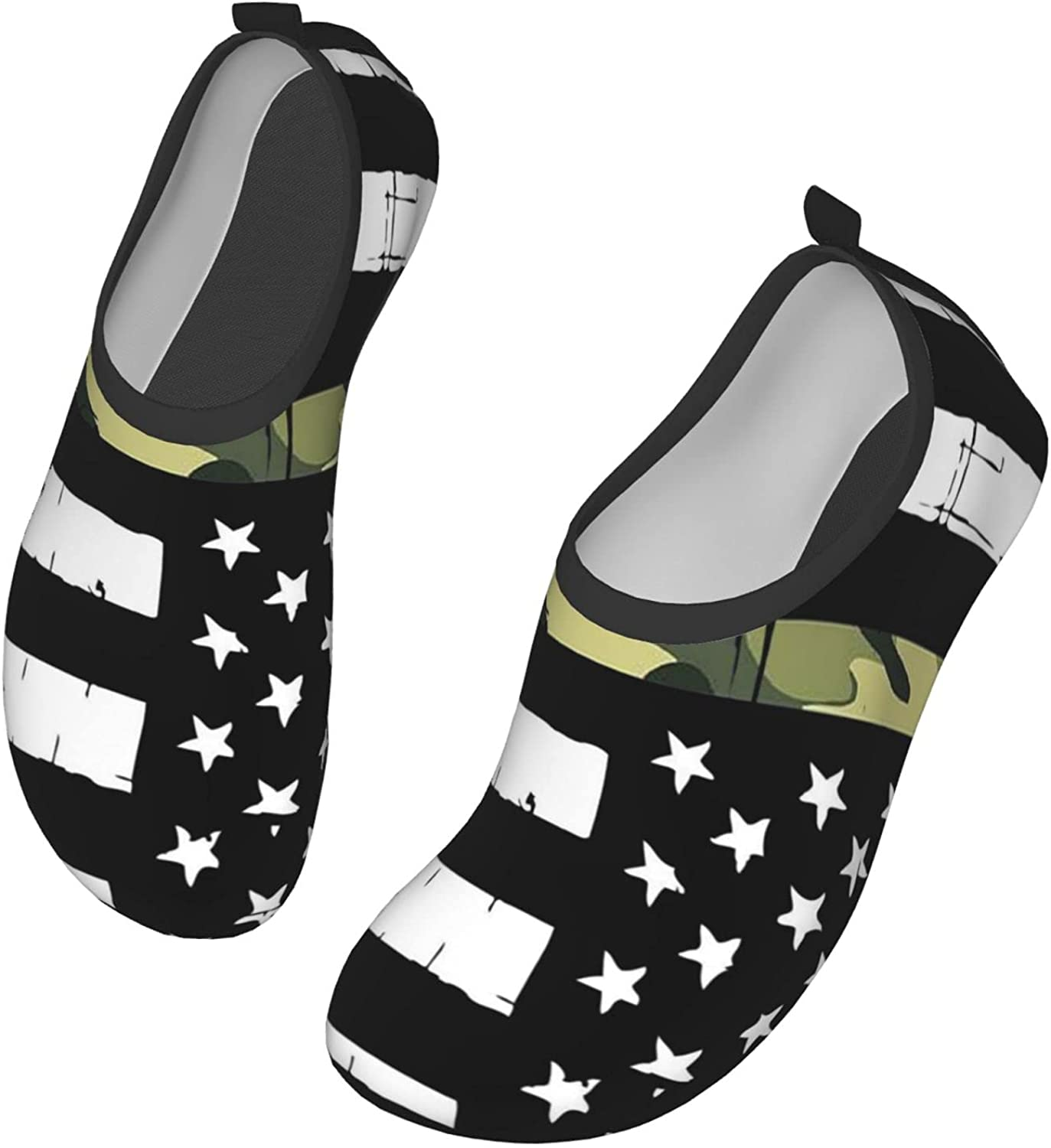 DIAFILM Water Shoes American Military Camo Police Flag Quick-Dry