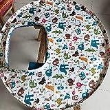 BlakeSha36 Alimento para bebés Mantel Individual Plato de alimentación para bebés Funda para Trona Animal Kingdom