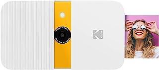 KODAK Smile Cámara Digital impresión instantánea - Cámara de 10 MP deslizable con Impresora Zink 2x3 Pantalla Enfoque Fijo Flash automático y edición de Fotos - Blanco/ Amarillo