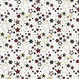 Fabulous Fabrics Baumwollstoff Popeline Bunte Sterne –