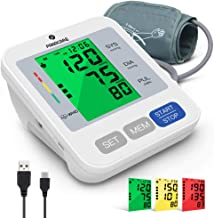 Blood Pressure Machine for Upper Arm 3.4'' Tri-Color Backlight Screen, PANACARE Automatic Electronic Blood Pressure Meter ...
