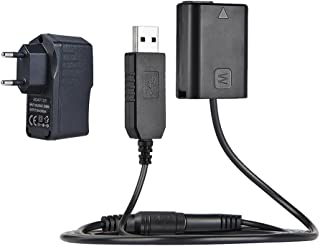 Andoer NP-FW50 Dummy batería + 5V 3A USB Power Adapter Cable con Enchufe De Red DE Repuestos para AC PW20 para Sony NEX-3/5/6/7 Serie