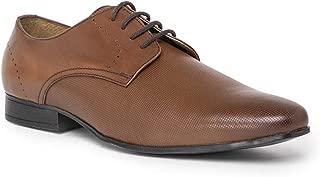 NOBLE CURVE Tan Leather Derby Shoes
