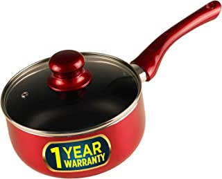 iBELL SPN180 Non Stick Sauce Pan (18 cm),Induction Compatible,Red-1.8L