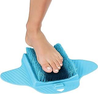 Pierre de pommeau de bain douche pied nettoyage du pied exfolier nettoyant brosse de poils chaussure sans pliage massage n...