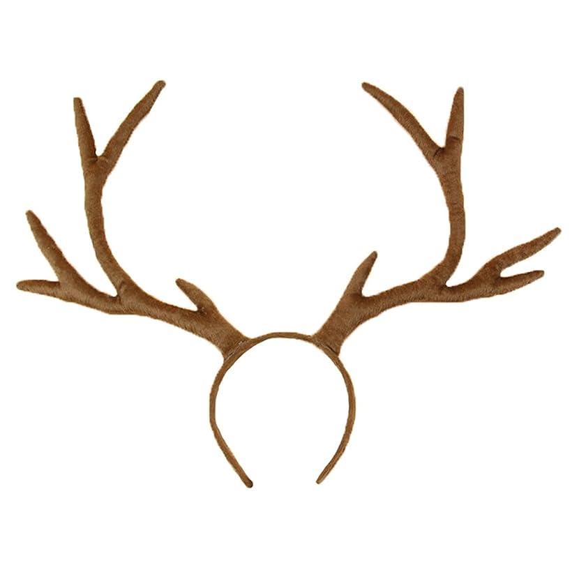 Taoko Halloween Christmas Party Reindeer Antlers Headband Prop Hair Accessories